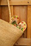 sandals in sun purse/ closeup poster