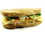 salmon sandwich poster