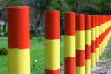 colored street poles poster