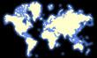 planisphère sur fond noir