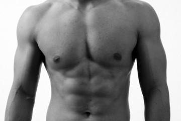 monochrome torso