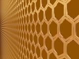 wall hexagonal poster