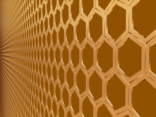 wall hexagonal
