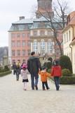 family in castle poster