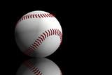 baseball over black poster