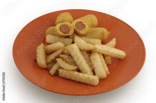 corn dog & fries