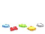 3d puzzle pieces -3d render poster