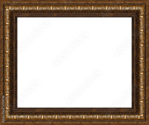 antique rustic picture frame isolated poster