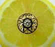 golden ring on lemon