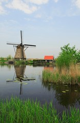 mill in dutch landscape