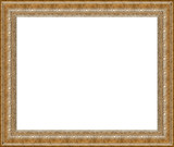 antique rustic silver picture frame isolated poster