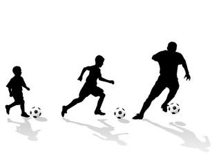soccer generation silhouette