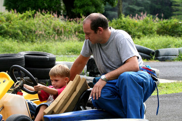 father and son karting