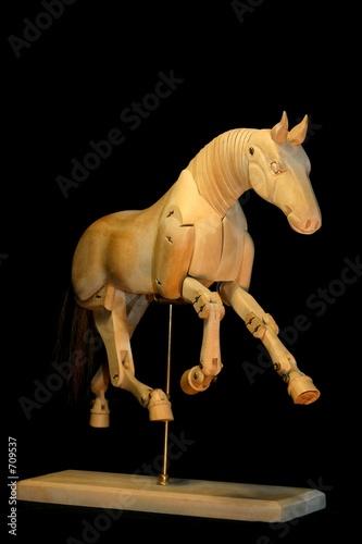 horse mannequin gallop