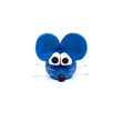 blue mouse, clay modeling