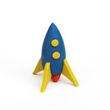 rocket, clay modeling