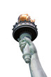 statue of liberty hand isolated