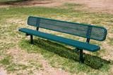 deserted park bench poster