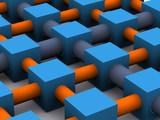 Fototapety network grid