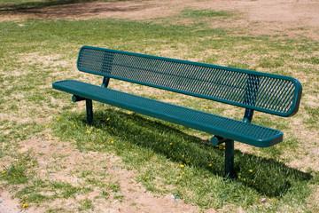 deserted park bench