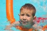 swimming boy five poster