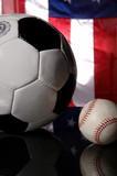 soccer - football and baseball poster