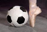 Fototapety soccer - football and ballet shoe