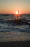 cape may ocean waves at sunset poster