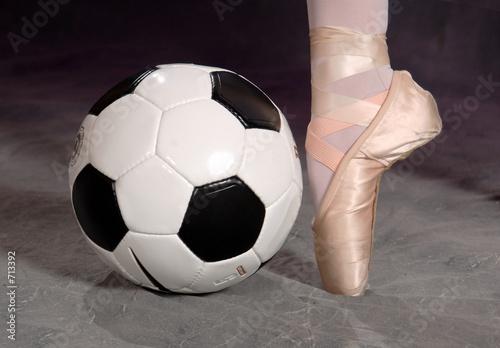 Aluminium Dance School soccer - football and ballet shoe