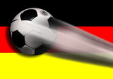 soccer - football flying with german flag poster