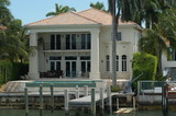 luxurious mansion at star island, miami, florida poster
