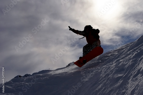 snowboarder's flying