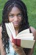 student girl reading