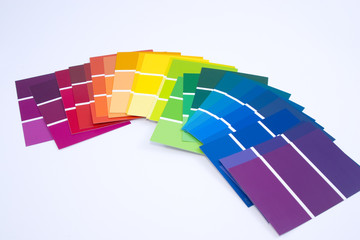 isolated paint samples