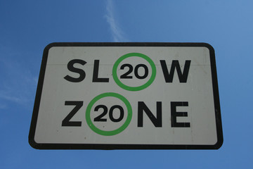 slow 20 mph speed limit