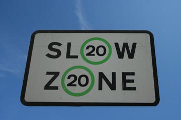 slow 20 mph speed limit