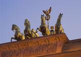 quadriga atop the brandenburg gate, berlin, german poster