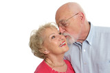 senior couple - affectionate poster