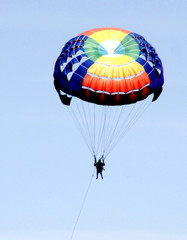 colourful parachute