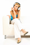listening music poster