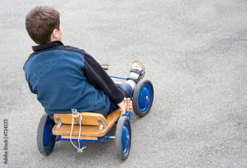 boy in cart