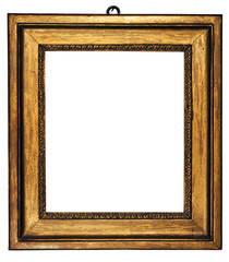 picture frame cubic gold (path included)