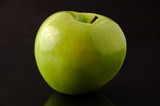 granny smith apple isolated poster