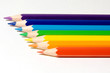 seven pencils of color of a rainbow