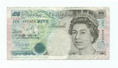 british 5 pounds