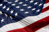 usa flag billowing poster