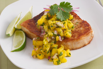 swordfish with mango salsa