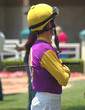 jockey waiting for his mount