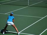 tennis return poster