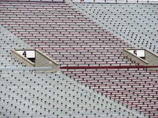 seats at football stadium